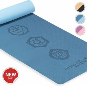 Positive Things Yoga mat – Yoga mat met anti slip – Yogamat dik - Yoga Mat Blauw