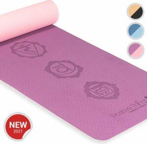 Positive Things Yoga mat – Yoga mat met anti slip – Yogamat dik - Yoga mat roze - Fitness mat - Sport mat